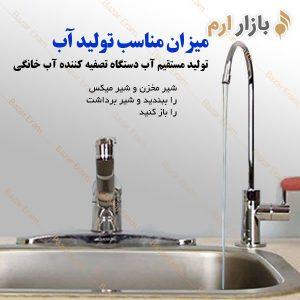 میزان استاندارد تولید مستقیم تولید آب